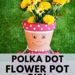 Flower pot girl on grass