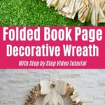 Folded Book Page Wreath Collage