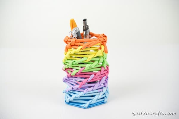 Rainbow pencil holder