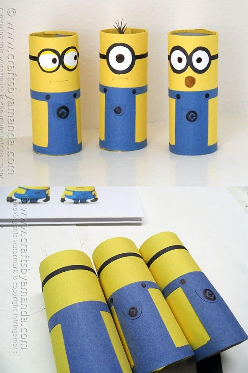 "Artisanat de papier toilette Minions ""width ="" 600 ""height ="" 900 ""srcset ="" https://cdn.diyncrafts.com/wp-content/uploads/2020/04/Toilet-Paper-Roll-Craft-1.jpg 800w, https://cdn.diyncrafts.com/wp-content/uploads/2020/04/Toilet-Paper-Roll-Craft-1-200x300.jpg 200w, https://cdn.diyncrafts.com/wp-content /uploads/2020/04/Toilet-Paper-Roll-Craft-1-683x1024.jpg 683w, https://cdn.diyncrafts.com/wp-content/uploads/2020/04/Toilet-Paper-Roll-Craft- 1-768x1152.jpg 768w ""tailles ="" (largeur max: 600px) 100vw, 600px"