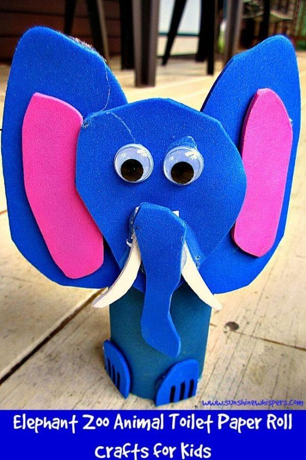 Toilet paper roll elephant