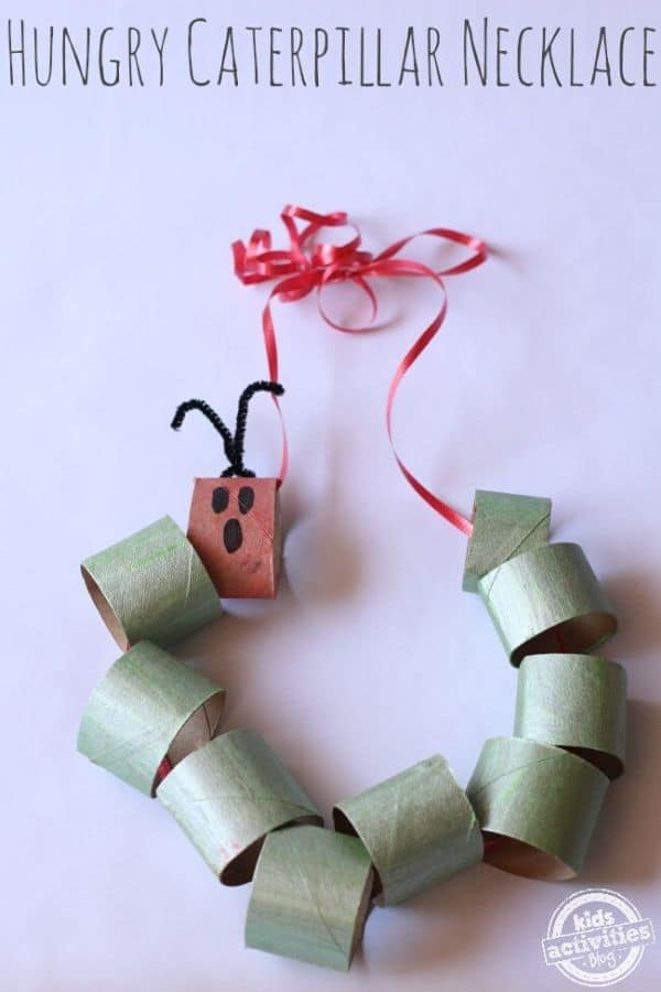 Hungry caterpillar paper roll craft