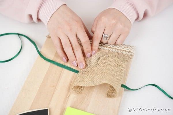 Gluing cutting board