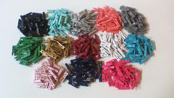 Mini Clothespins, Small Wood Clothespins