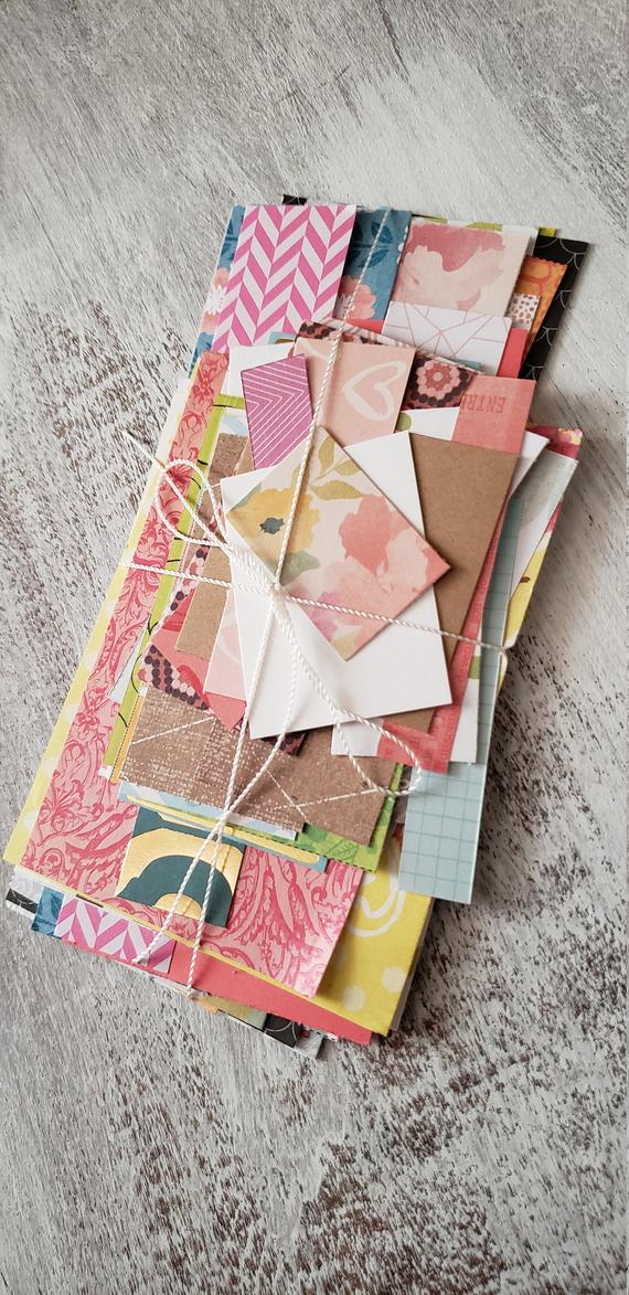 Assorted Scrap Paper Pages