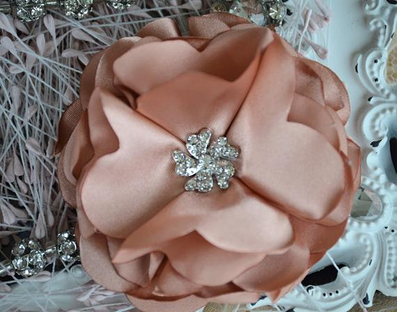 Rose Gold Fabric Flower