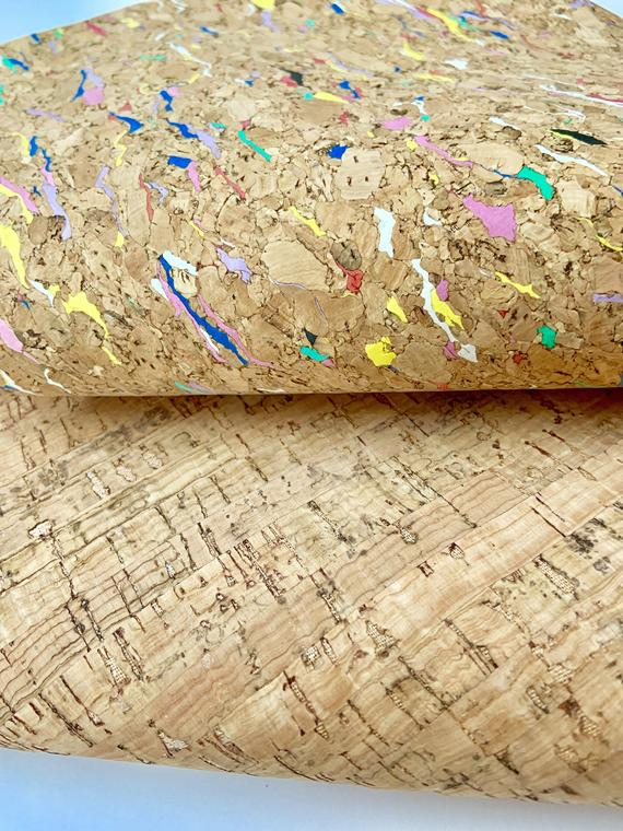 Colored Cork Fabric Sheets