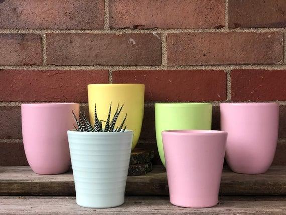 Pastel Flower Pots