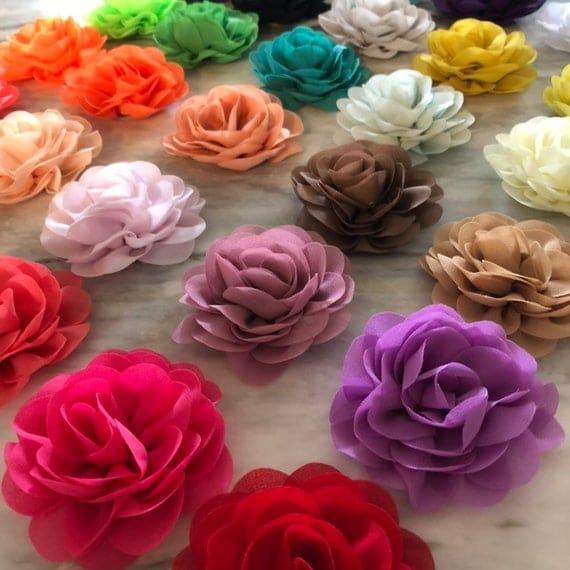 Soft Fabric Roses 3.5 inches