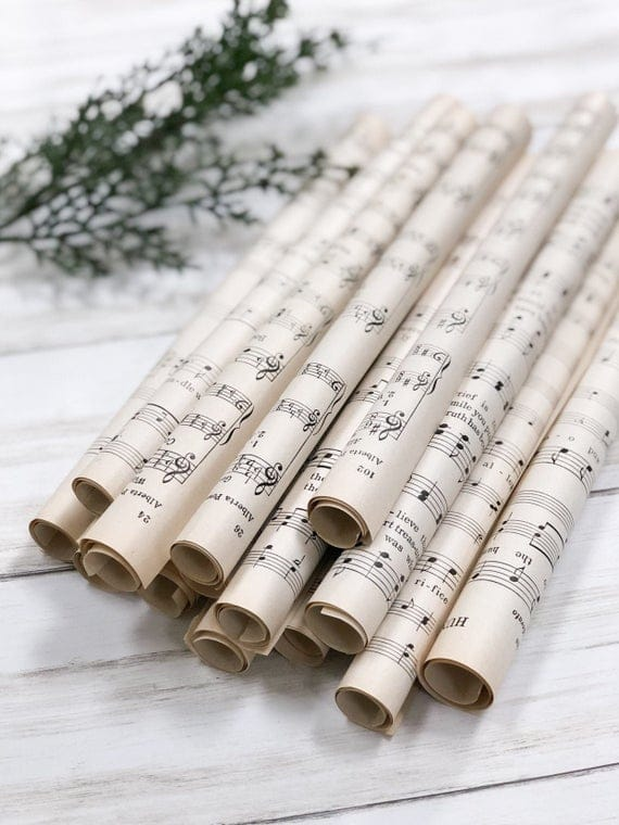 Vintage Music Sheets Rolled / Scroll