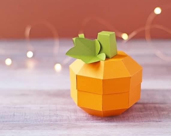 3D Paper Pumpkin Gift Box