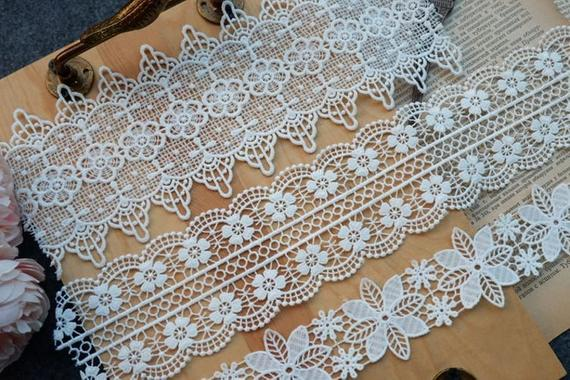 2 Yards Milk silk lace trim