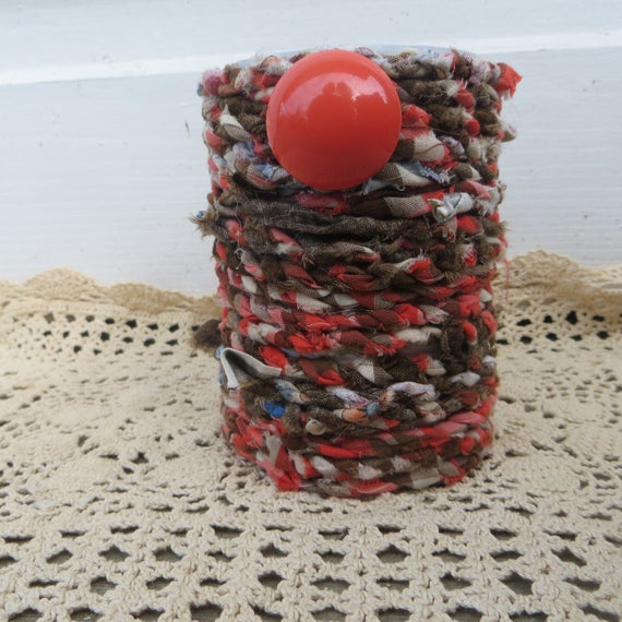 Fabric Twine Planter or Pen Holder