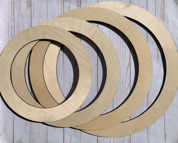 Wood Wreath Forms