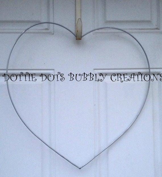 Single Heart Wire Form