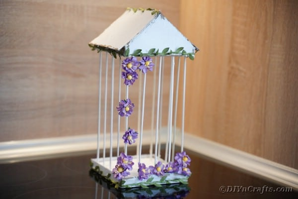 Gorgeous DIY Birdcage with Flowers