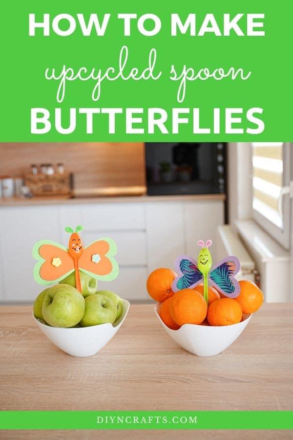 Butterfly spoons in fruit