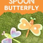 Butterfly spoons on grass