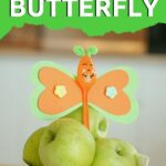 Butterfly spoon with apples
