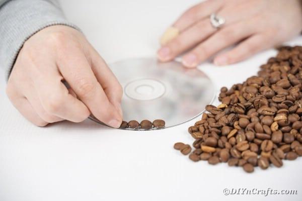 CD with coffee beans