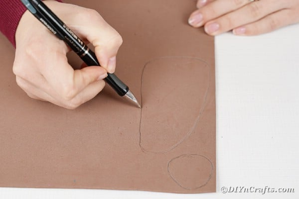 Drawing on brown paper