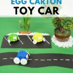 Toy cars on fake road