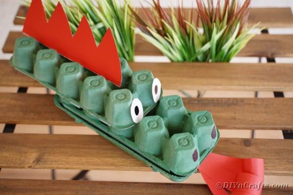 Dragon craft on wood table