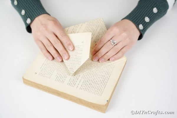 Folding book pages