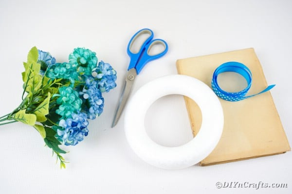 Folded paper wreath supplies