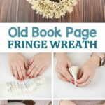 Fringed wreath collage