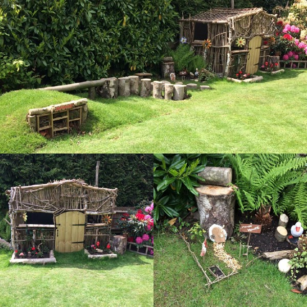 Garden hut for kids