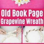 Book Page Wrapped Wreath collage