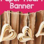 Paper heart against wooden slats