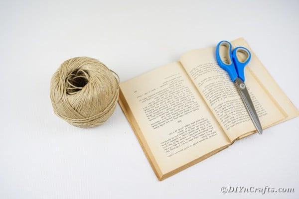 Supplies for paper book heart garland