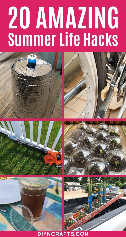 Summer life hacks collage