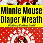 Minnie Mouse Diaper Wreath Collage