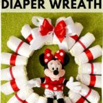 Diaper Wreath on grass