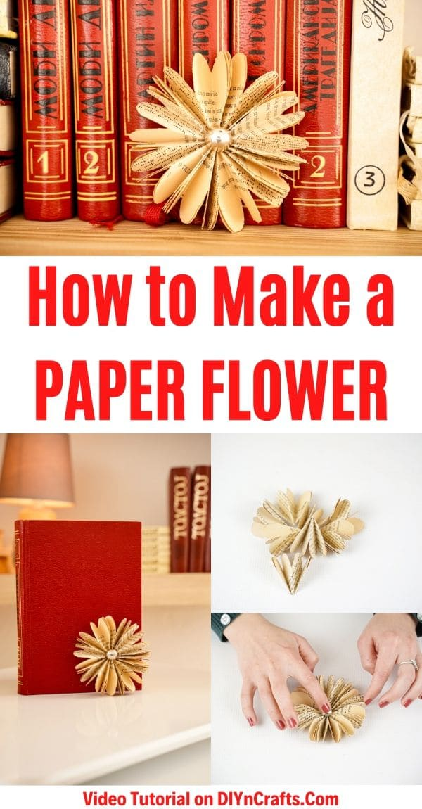 Paper flower collage