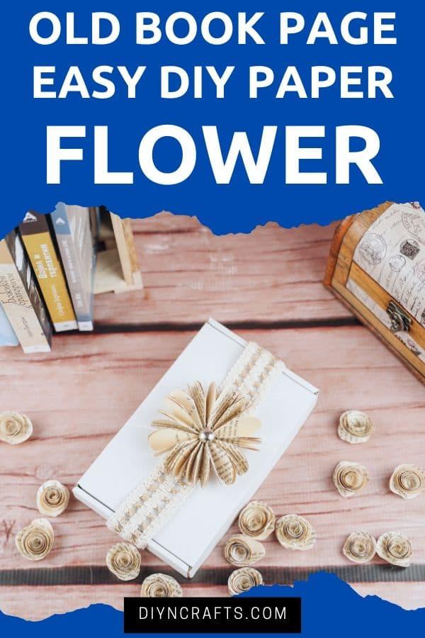 Paper flower on gift