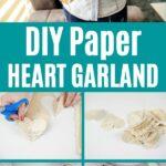 Heart garland collage