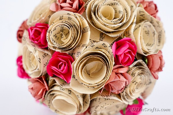 Close up paper rose