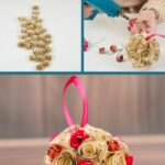 Paper rose ball collage