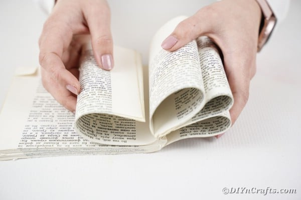 Rolling pages inward