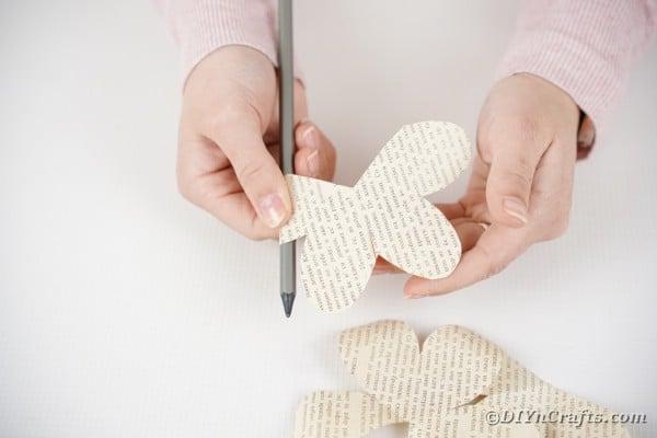 Cutting paper rose