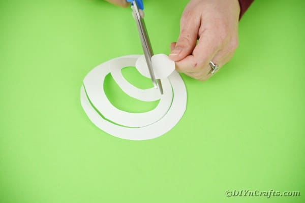 Cutting a circle out of paper