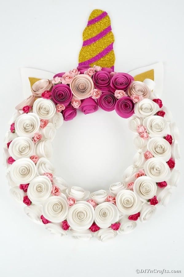 Wreath on kitchen wall