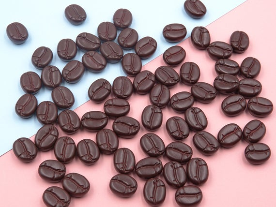 False Coffee beans Resin Slime Charms cabochons Ornament or Scrapbook DIY Crafts P0301