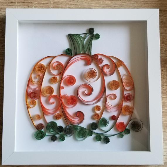 Paper Quilled Pumpkin