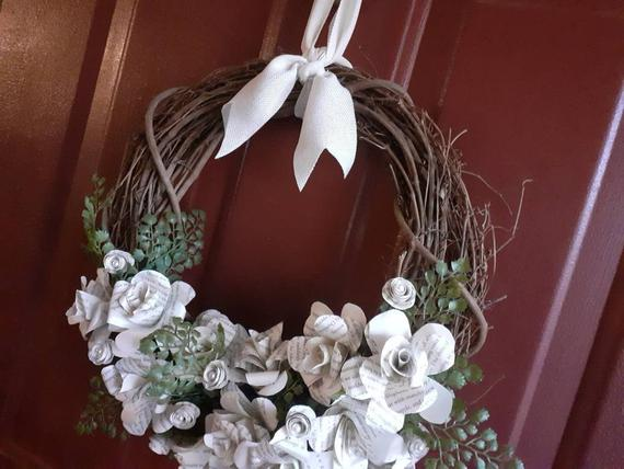 Book Page Indoor Wreath