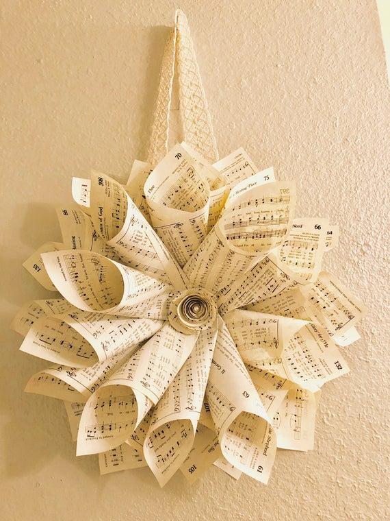 """15"""" hymnal wreath"""